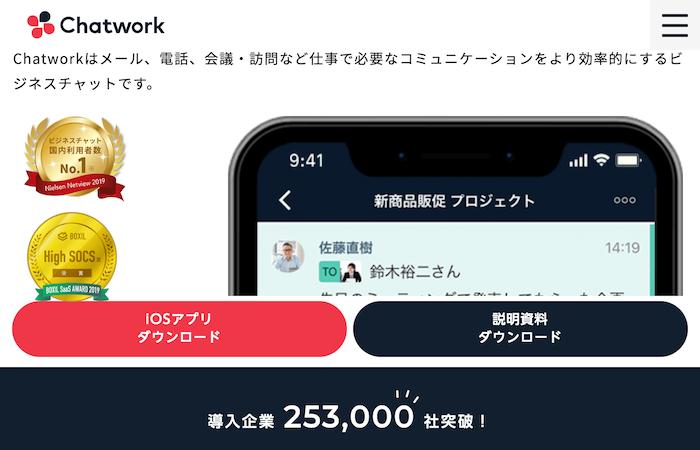 ビジネスチャットツール②:Chatwork