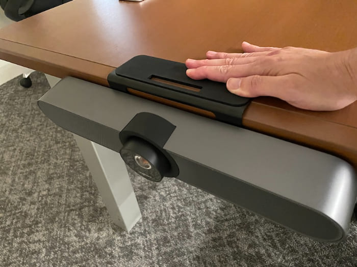 テーブルに設置したイメージ