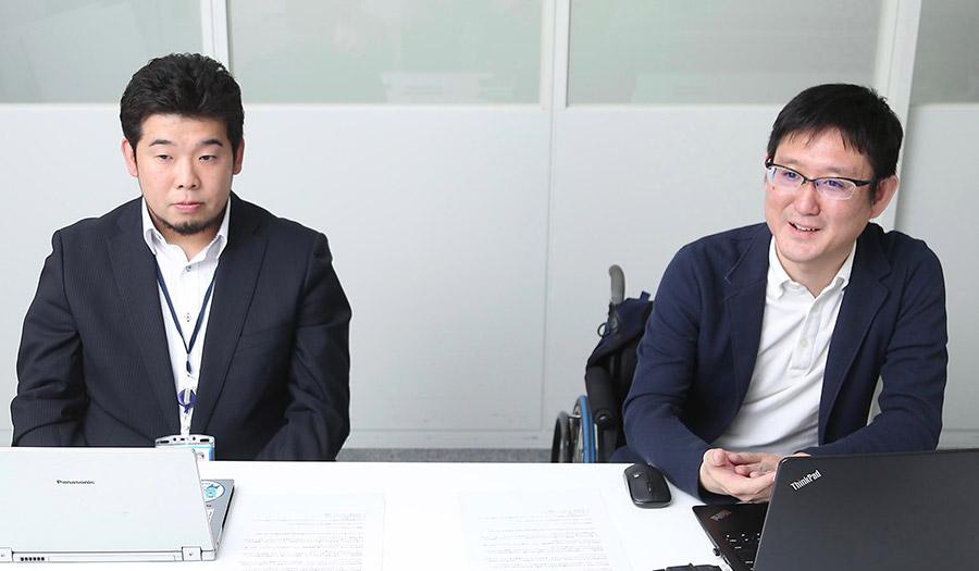 左から宮地 俊介さん、川上 啓さん